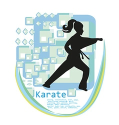 Karate girl design vector image vector image