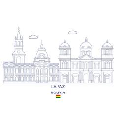 La paz city skyline vector