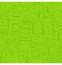 Line school green seamless pattern vector