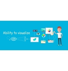 Man Ability to Visualize Concept vector image vector image