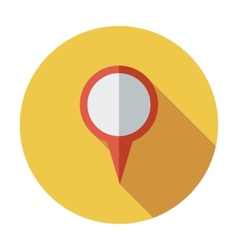 Map pointer single flat icon vector image vector image
