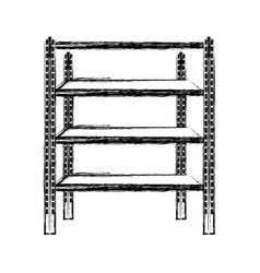 Metal shelf isolated icon vector