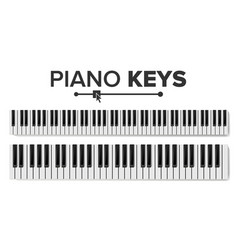 piano keyboards isolated top vector image vector image
