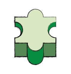 puzzle piece symbol vector image vector image