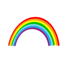 rainbow sign vector image vector image