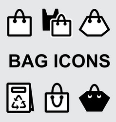 shopping bag icons vector image vector image
