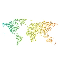 World network map logo vector image