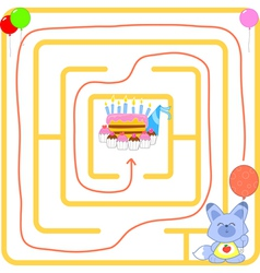 Birthday party maze vector