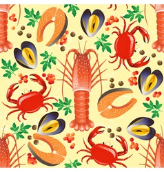 Sea food seamless vector