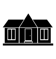 Modern country house icon simple style vector