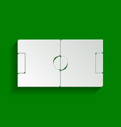 soccer field paper whitish icon with soft vector image