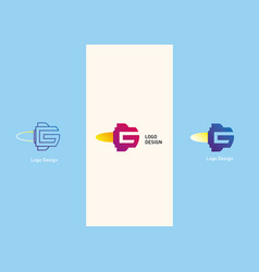 Set geometric logo letter g in the form of a vector