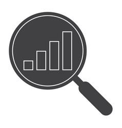 Data analysis black silhouette vector