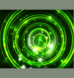 Neon circles abstract background vector