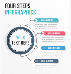 Infographic template with four steps vector