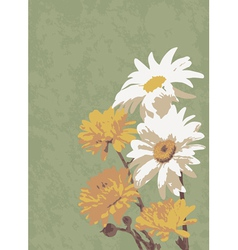 Old of a bouquet of flowers vector