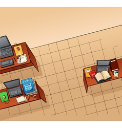 Empty office vector