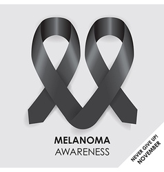 Melanoma ribbon vector