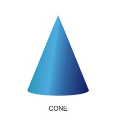 3d shape cone vector