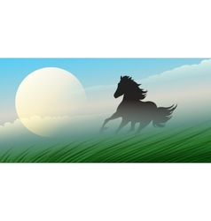 Running stallion vector