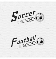 Football soccer badges logos and labels for any vector