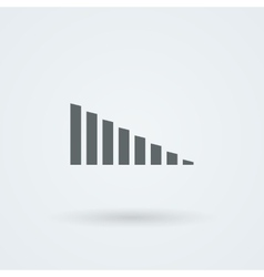 Minimalistic icons volume or equalizer vector