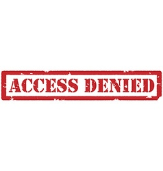 Access denied stamp vector