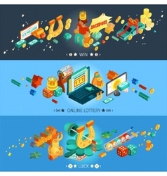 Lottery Banners Set vector image