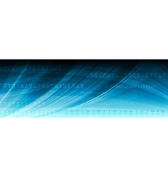 Blue web tech binary code header vector