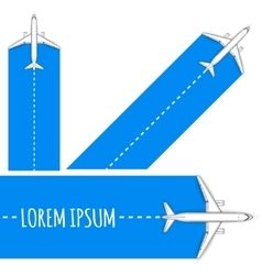 Commercial flights in airplanes vector