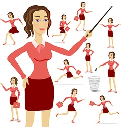 A business woman wearing a suit with her arms vector image vector image