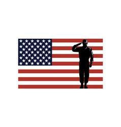 American solder serviceman saluting vector