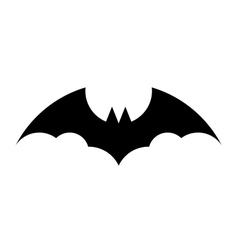 Black bat silhouette on white background vector image