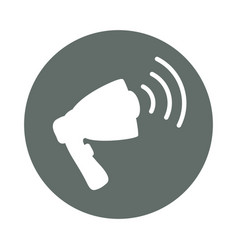 Bullhorn advertising round icon vector