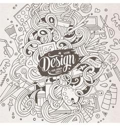 Cartoon cute doodles design vector image vector image