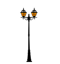 city street lantern vector image vector image