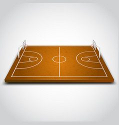 clear basketball field vector image vector image