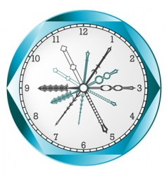 clock icon vector image vector image