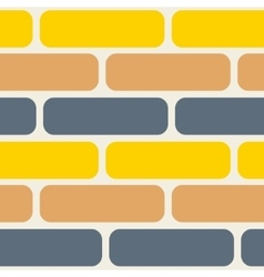 Color bricks seamless pattern vector