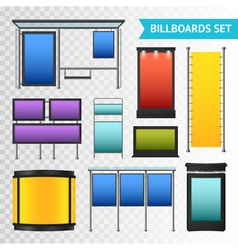 Colorful Promotional Billboards Set vector image vector image