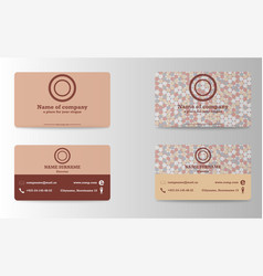 Elegant template luxury business card with modern vector