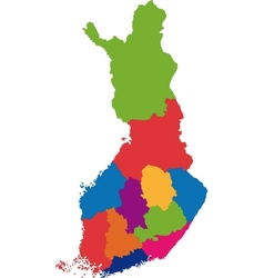 Finland map vector image vector image