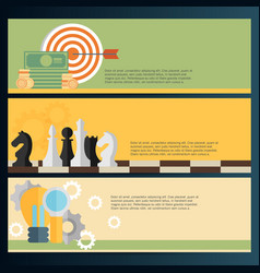 Flat backgrounds set target coins and chess vector