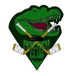 Fully editable professional hockey logo vector image