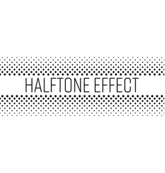 Halftone effect title strip with black text on vector