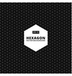 Hexagon seamless pattern modern stylish texture vector