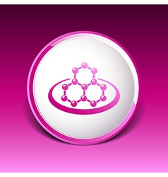 icon molecular research chemistry medicine vector image