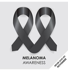 melanoma ribbon vector image vector image