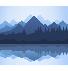 mountain vector image