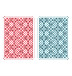 Playing cards back alfa vector image